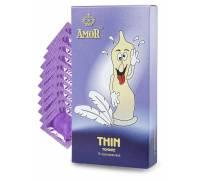 """Супертонкие презервативы AMOR Thin """"Яркая линия"""" - 10 шт."""