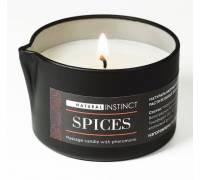 Массажная свеча с феромонами Natural Instinct SPICES - 70 мл