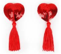 Красные пэстисы-сердечки с кисточками