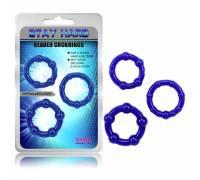 Набор синих стимулирующих колец Stay Hard