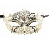 Золотистая маска на глаза из металлического ажура