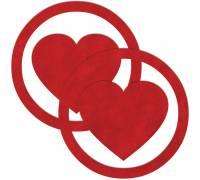 Красные пестисы Round Hearts в виде сердечек в круге