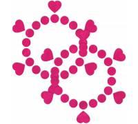 Розовые открытые пестисы Круги и сердца