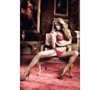Бордовый комплект бикини - бюстгальтер и трусики в горошек Have Fun Princess