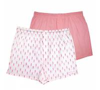Комплект из 2 мужских трусов-шортов: розовые и белые с мелким рисунком