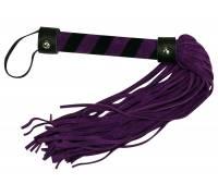Фиолетовая замшевая плётка Bad Kitty Lila - 38 см.