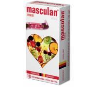 Жёлтые презервативы Masculan Ultra Tutti-Frutti с фруктовым ароматом - 10 шт.
